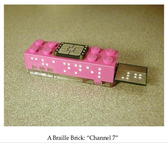 A braille tangible programming instruction
