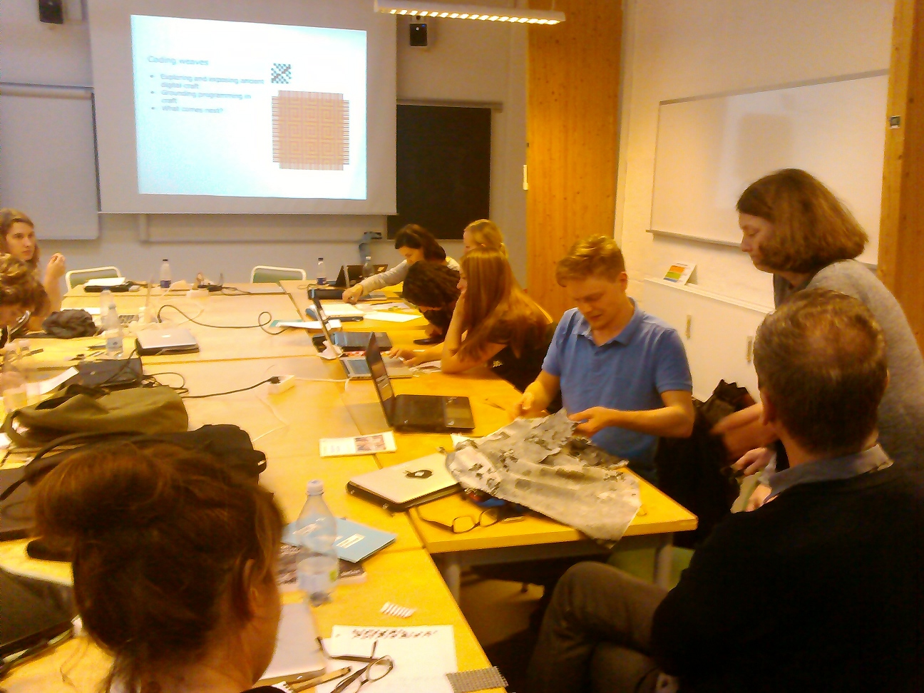 Workshop participants working in Aarhus