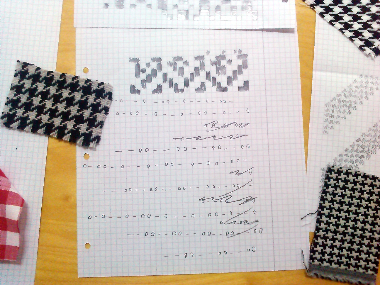 Example fabric and notation